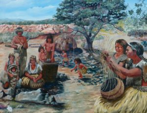 Lemon Grove History Mural Panel 1 - The Kumeyaay World