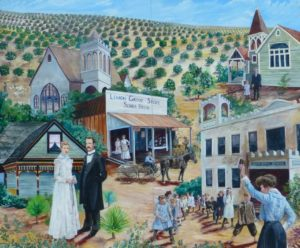 Lemon Grove History Mural Panel 4 - The Birth of Lemon Grove
