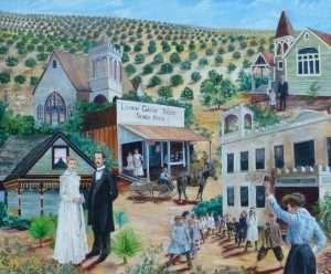Lemon Grove History Mural Panel 4 - The Birth of Lemon Grove