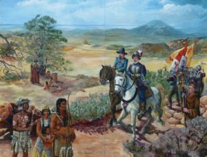 Lemon Grove History Mural Panel 2 - The Spanish Conquest