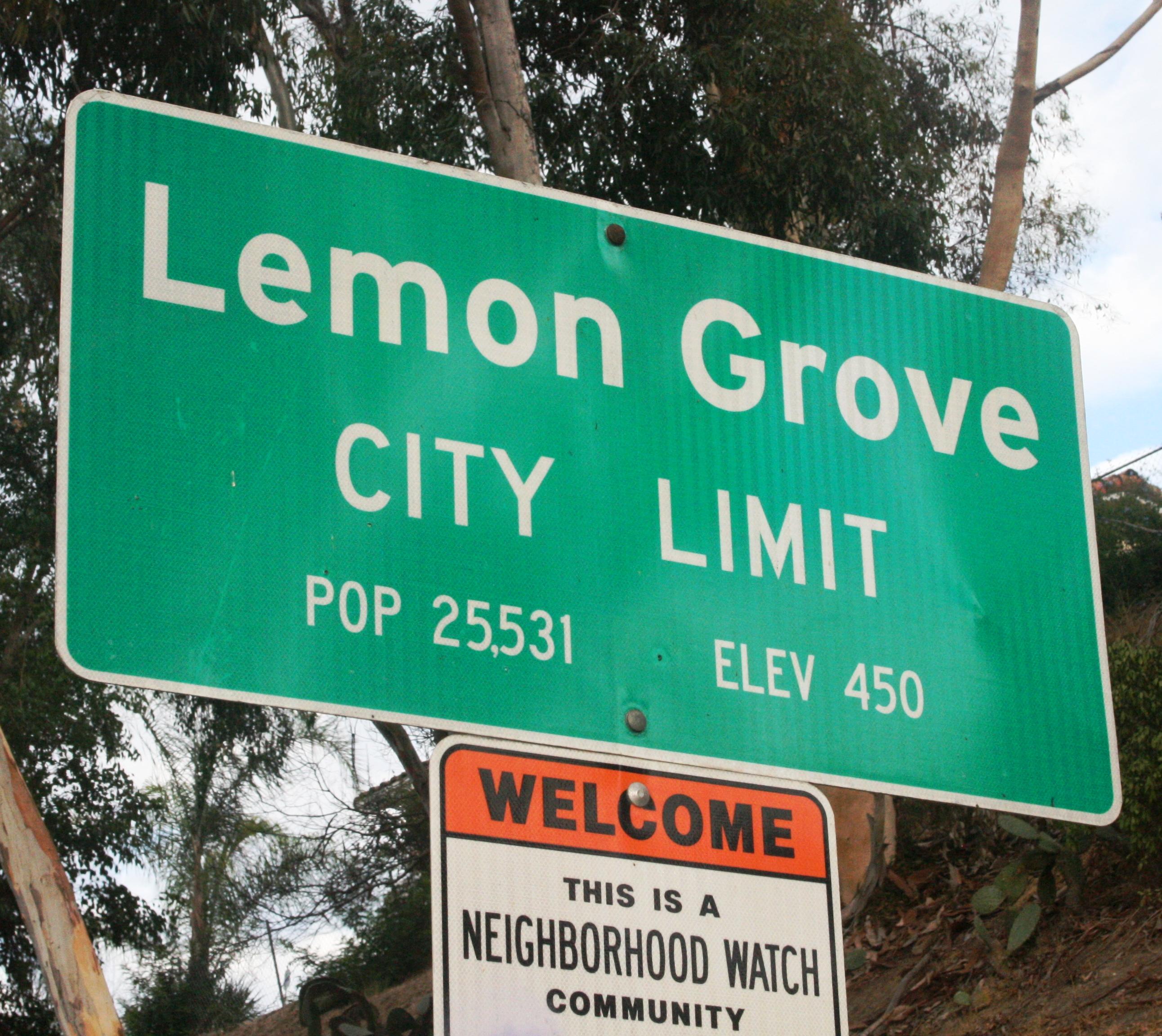 City Limit Sign - City of Lemno Grove, California
